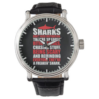Motivational Words - Be A Shark Wrist Watch