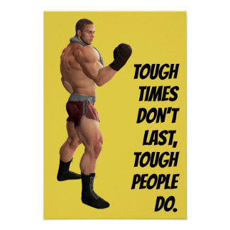 Motivational Words Boxer's Punch Fighter Quote Poster