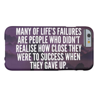 Motivational Words - Failure and Success Barely There iPhone 6 Case