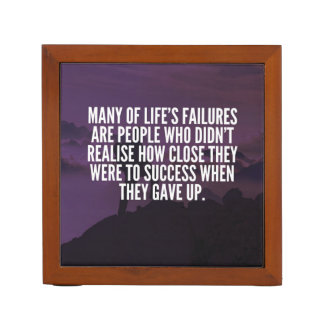 Motivational Words - Failure and Success Desk Organizer