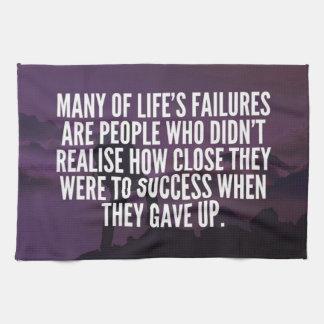 Motivational Words - Failure and Success Kitchen Towel