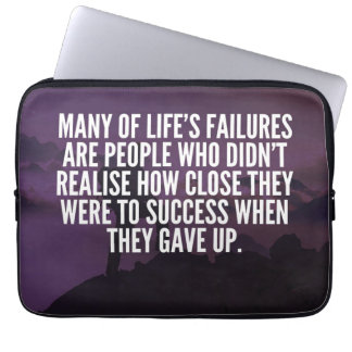 Motivational Words - Failure and Success Laptop Sleeve