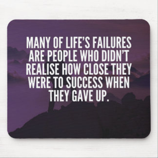 Motivational Words - Failure and Success Mouse Pad