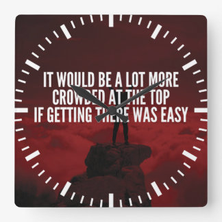Motivational Words - Getting To The Top Wallclocks