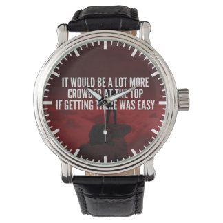 Motivational Words - Getting To The Top Watches