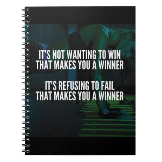 Motivational Words - Refuse To Fail - Workout Notebook