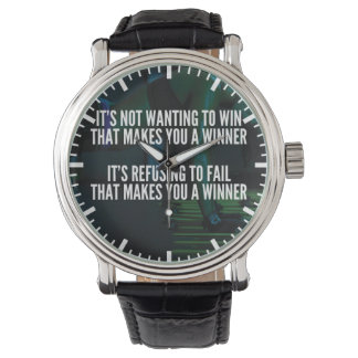 Motivational Words - Refuse To Fail - Workout Wristwatches