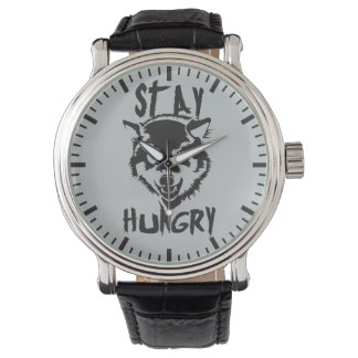Motivational Words - Stay Hungry Wristwatch
