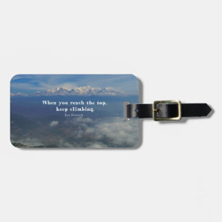 Motivational Zen Proverb about Challenges Luggage Tag