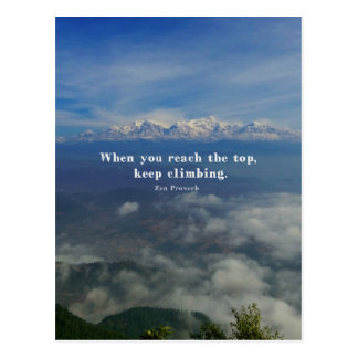 Motivational Zen Proverb about Challenges Postcard