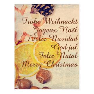 Motive for Christmas with fruits Postcard