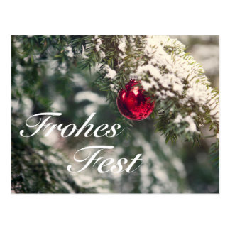 Motive for Christmas with the words 'glad Fest' Postcard