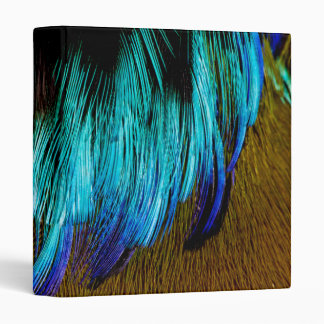 Motmot Feather Abstract 3 Ring Binder