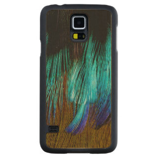 Motmot Feather Abstract Carved Maple Galaxy S5 Case