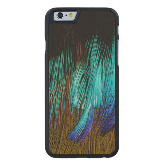 Motmot Feather Abstract Carved Maple iPhone 6 Case