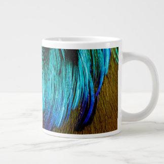 Motmot Feather Abstract Large Coffee Mug
