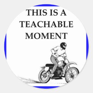 moto classic round sticker