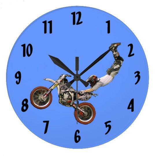 moto cross large clock