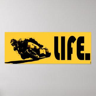 Moto Life Yellow Poster
