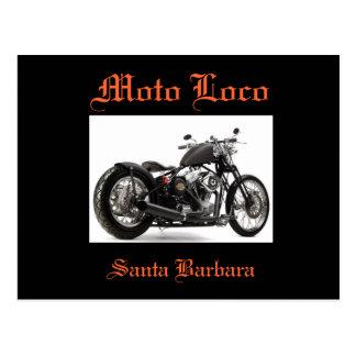 "Moto Loco ""Harley Davidson Santa Barbara"" Postcard"