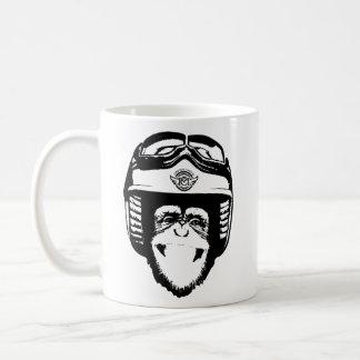 Moto Monkey Head Mug