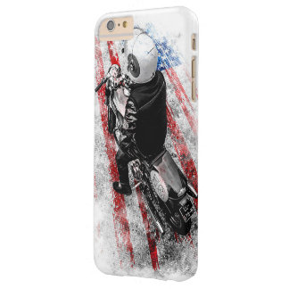 Moto rider,  rebel born to ride american flag barely there iPhone 6 plus case