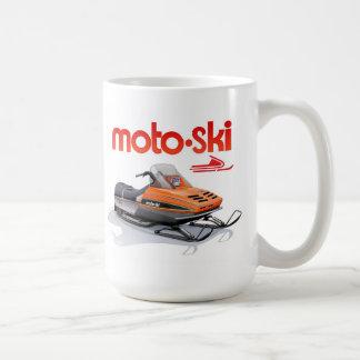 moto ski snowmobile coffee mug