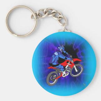 Motocross 203 basic round button keychain