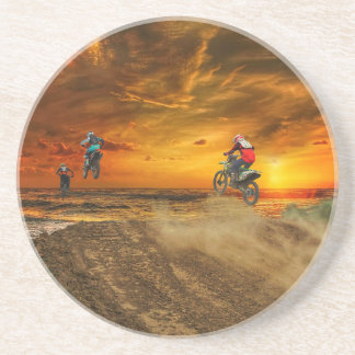 Motocross at dusk coaster