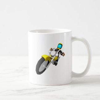 Motocross Biker Classic White Coffee Mug
