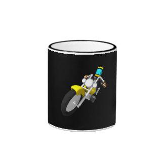 Motocross Biker Ringer Mug