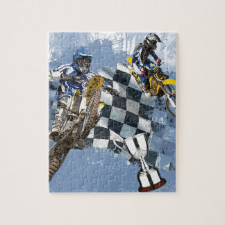 Motocross Blue Dreams Puzzle