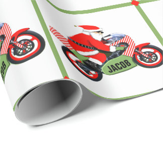 motocross Christmas Wrapping Paper