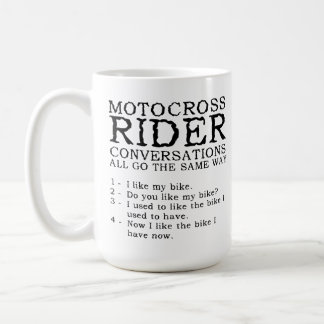 Motocross Conversations Funny Dirt Bike Mug