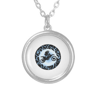 Motocross Days Silver Plated Necklace