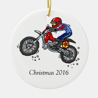 Motocross Dirt Bike Christmas Ornament