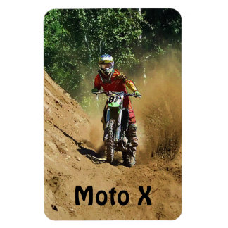 Motocross Dirt-Racer Sports Art Magnet