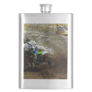 Motocross Dirtbike Racer Sports Gift Hip Flask
