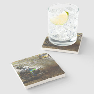 Motocross Dirtbike Racer Sports Gift Stone Coaster