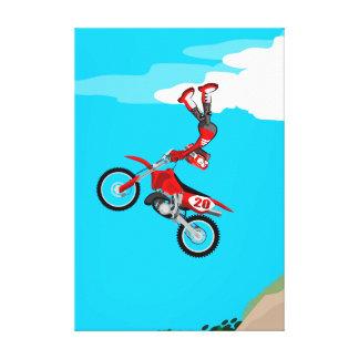 Motocross estremo young shows its acrobatics canvas print