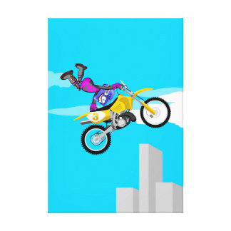 Motocross extreme adrenalin to the maximum canvas print