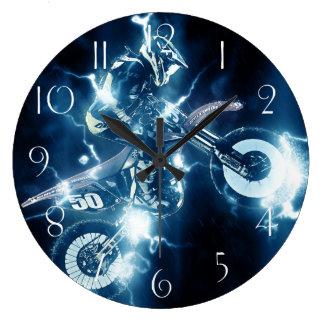 Motocross extreme sport large clock