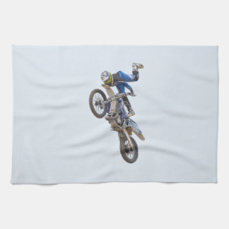 Motocross Extreme Tricks Kitchen Towel