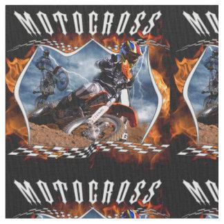 Motocross fire and lightning fabric