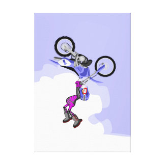 Motocross its feat carries far boy showing canvas print