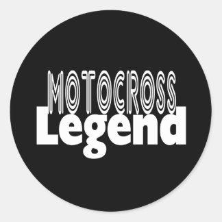 Motocross Legend Classic Round Sticker