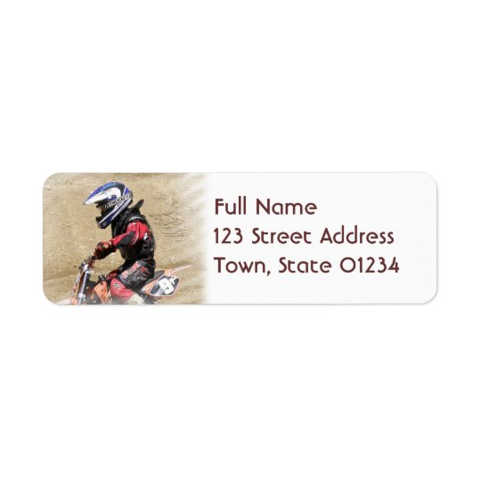Motocross Mailing Labels