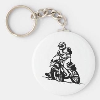 Motocross Motorcycle Keychain