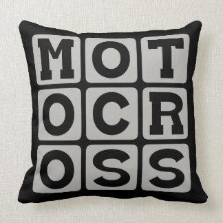 Motocross, Motorcycle Sport Throw Pillow