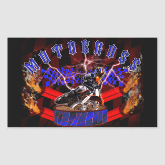 Motocross mufflers shooting fire sticker